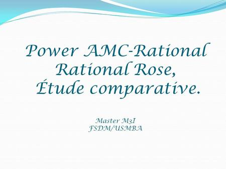 Power AMC-Rational Rational Rose, Étude comparative