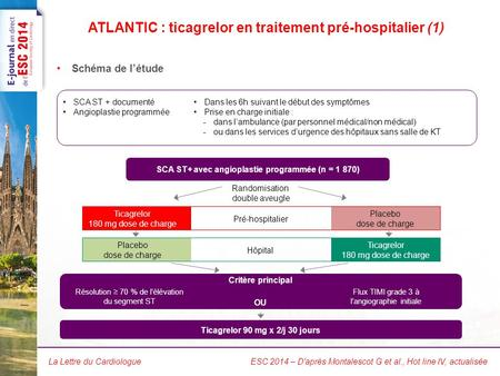 ATLANTIC : ticagrelor en traitement pré-hospitalier (2)