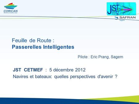 Feuille de Route : Passerelles Intelligentes