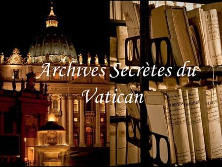 Archives Secrètes du Vatican