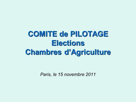 Organisation de la chambre regionale d agriculture de for Chambre d agriculture paris