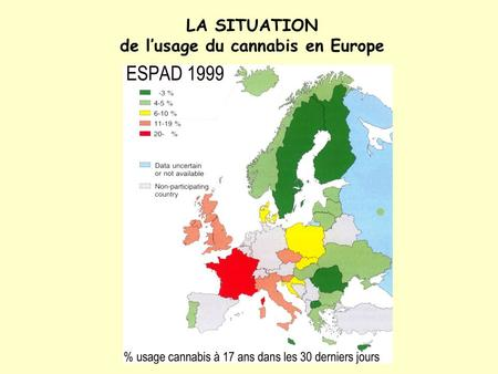 LA SITUATION de l'usage du cannabis en Europe