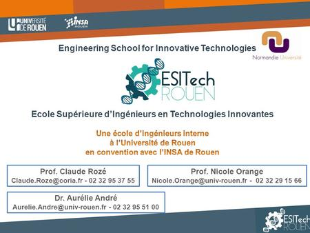 Engineering School for Innovative Technologies