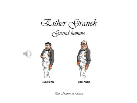 Esther Granek Grand homme Par Nanou et Stan.
