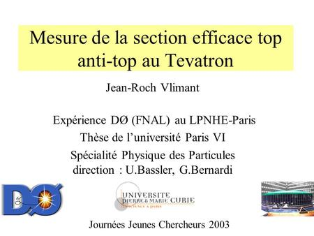 Mesure de la section efficace top anti-top au Tevatron