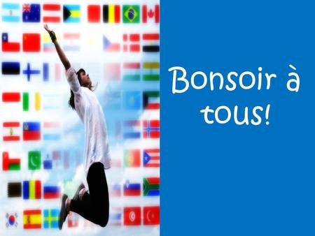 Bonsoir à tous!. Advanced French dropbox A way for me to share resources A way for you to catch-up on anything missed.