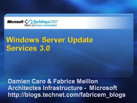 Windows Server Update Services 3.0
