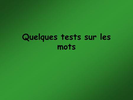Quelques tests sur les mots. Comptez rapidement le nombre de 'F' dans le texte suivant : +++++++++++++++++++++++++++ FINISHED FILES ARE THE RE- SULT OF.