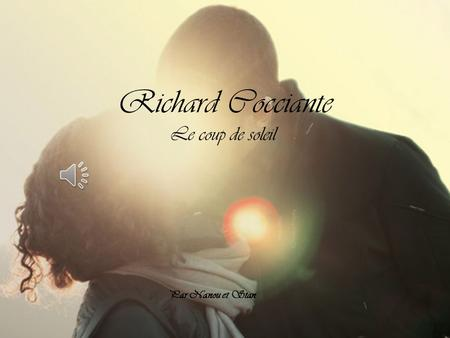 Julien clerc femmes je vous aime par nanou et stan ppt - Richard cocciante album coup de soleil ...