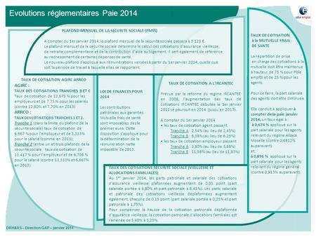Co t et financement de la protection sociale quelques - Plafond mensuel securite sociale 2014 ...