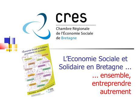 L conomie sociale contenu de la pr sentation introduction - Chambre de l economie sociale et solidaire ...