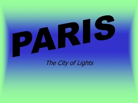 The City of Lights. Plan des Monuments Paris Les Kiosques.