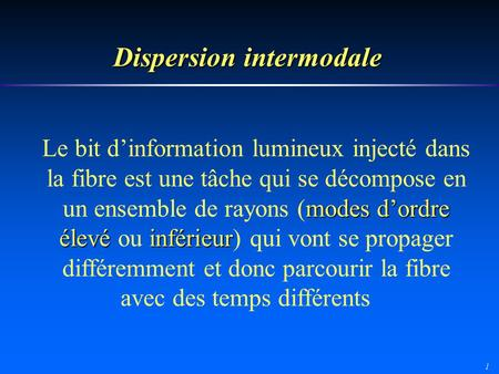 Dispersion intermodale