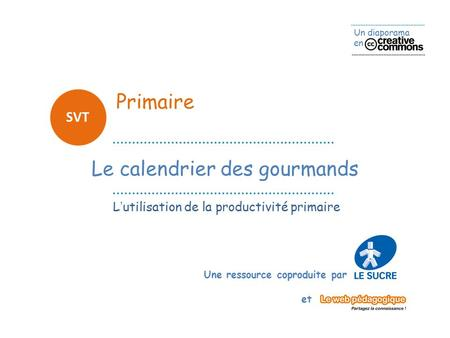 Le calendrier des gourmands