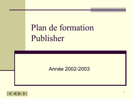 Plan de formation Publisher