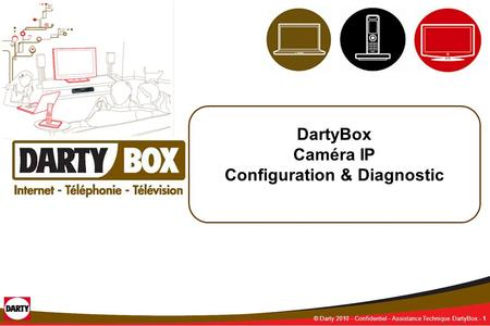 - CONFIDENTIEL - 1 © Darty 2010 - Confidentiel - Assistance Technique DartyBox - 1 DartyBox Caméra IP Configuration & Diagnostic.