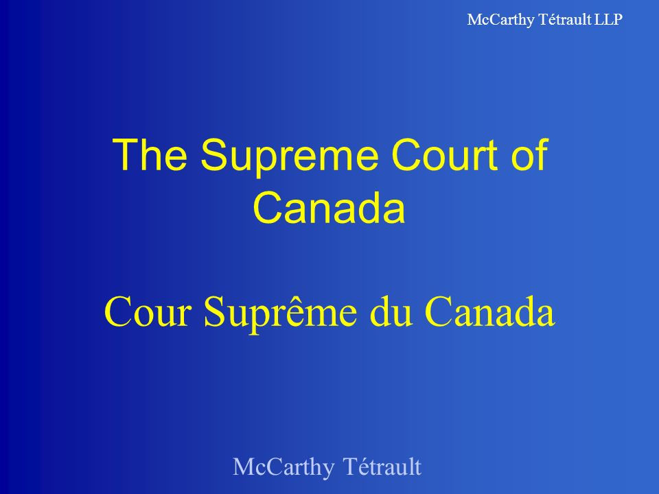 McCarthy Tétrault LLP The/LOmbudsman »Unique mission is to resolve tension in an informal manner: one reason that the office of ombudsman was created was to address the limitations of legal proceedings »His or her duty is to examine both sides of the dispute, assess the harm that has been done and recommend ways of remedying it.