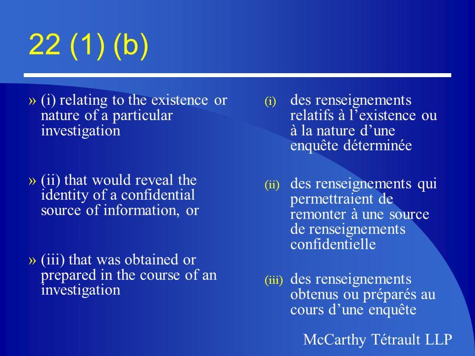 McCarthy Tétrault McCarthy Tétrault LLP Official Languages Act/ Loi sur les langues officielles