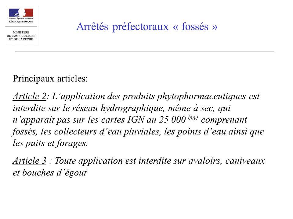 Principaux articles (suite): Article 5: un panneau rappelant les dispositions de larticle 1 et 2, de la taille minimale dun feuille A4, et sur le modèle figurant en annexe 1 doit être affiché de façon lisible dans chaque lieu de distribution.