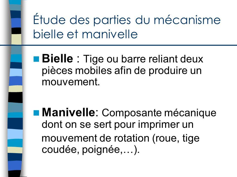 Étude des matériaux Liaison de pièces : directe ou indirecte Attaches: colle, attache-parisienne,… Guidage Came et galetBielle et manivelle