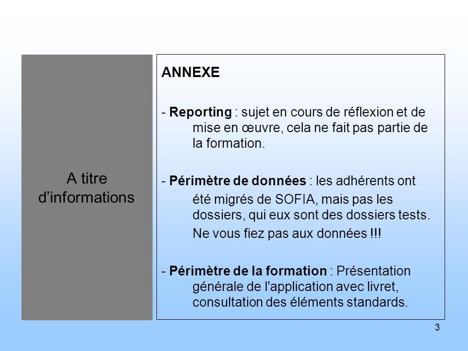 4 Agenda de la formation PROGRAMME A.Journée 1 1.Présentation du système SINFONIE et des logiciels le composant 2.Ergonomie et manipulation générale du logiciel CRD 3.Présentation du module adhérent du logiciel CRD