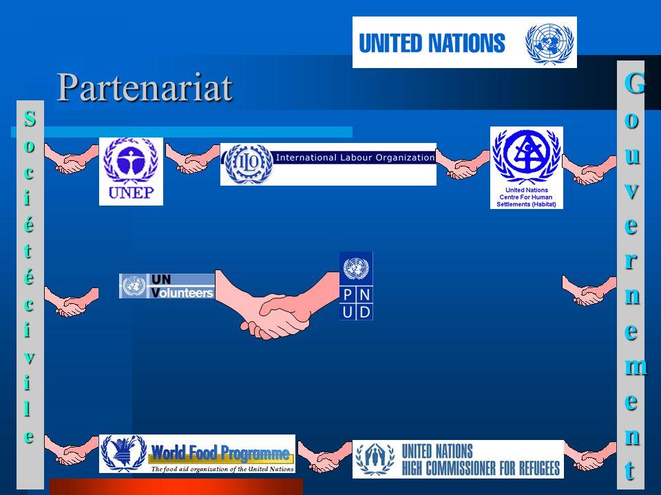 Partenariat SociétécivileSociétécivileSociétécivileSociétécivile GouvernementGouvernementGouvernementGouvernement