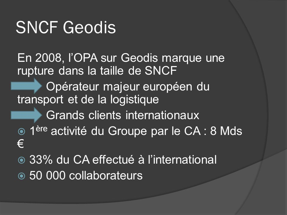 SNCF Fret Fret SNCF est le 1er transporteur de marchandises en France et le 2ème transporteur ferroviaire européen Evaluation SQAS ferroviaire Garantie en terme de Sécurité, Qualité, Environnement et Santé Ecomobilité des marchandises