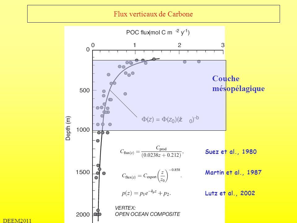 DEEM2011 Flux verticaux de Carbone Sarmiento et Gruber, 2006