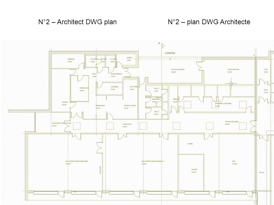 N°3 - Architect DWG plan incorporation N°3 – Incorporation du plan Architecte
