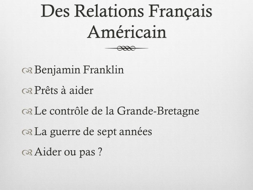 LArticle Comment ont-ils, les français vu et considéré Benjamin Franklin.