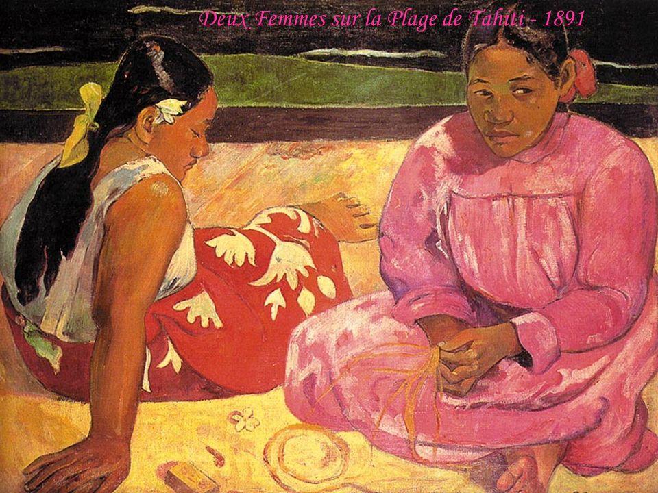 Deux Femmes sur la Plage de Tahiti - 1891