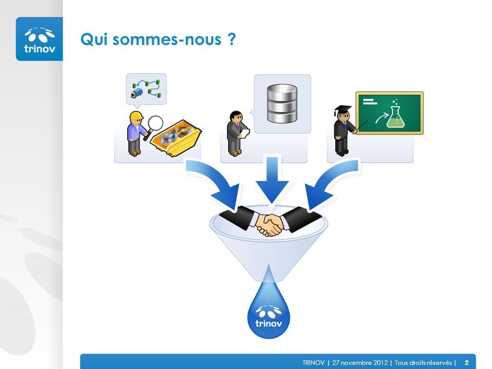 TRINOV | 27 novembre 2012 | Tous droits réservés | Résoudre de manière opérationnelle le problème des déchets + Ce qui nous anime 3