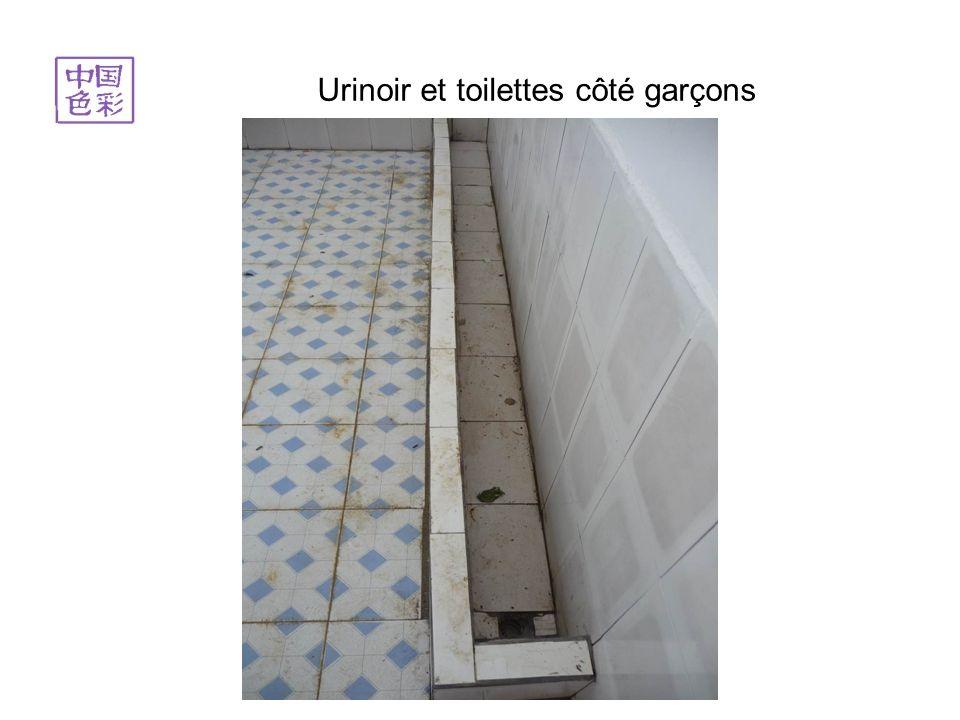 Il manque encore quelques tubes pour relier les toilettes à la cuve