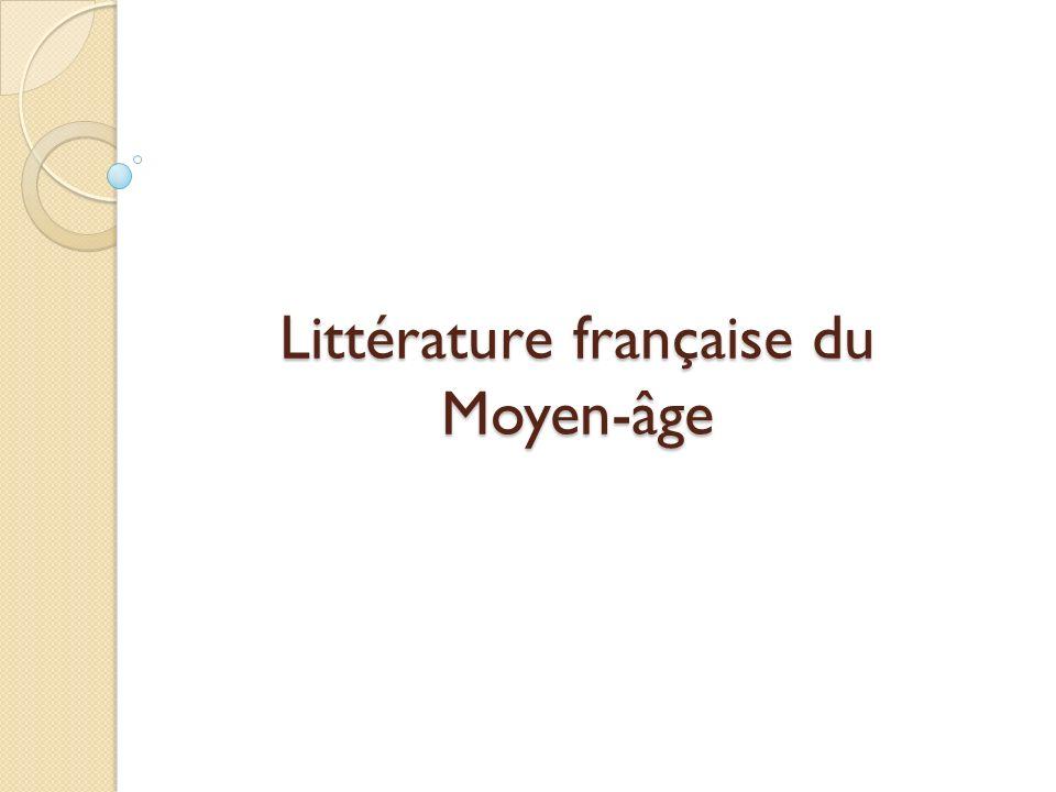 Définition La littérature médiévale en France correspond à des œuvres écrites entre l an mil et l an 1500 dans diverses langues issues du latin, langues d oïl au nord et en langues d oc au sud.