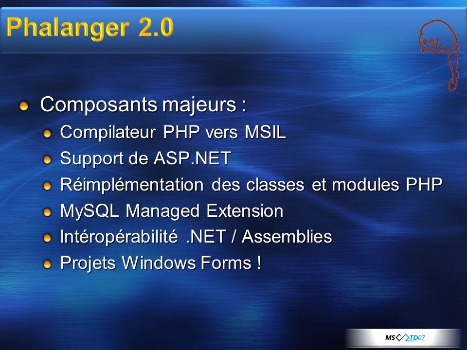 Beta 2 : MySQL Managed Extension Beta 3 : Quelques corrections Visual Studio Integration Bêta