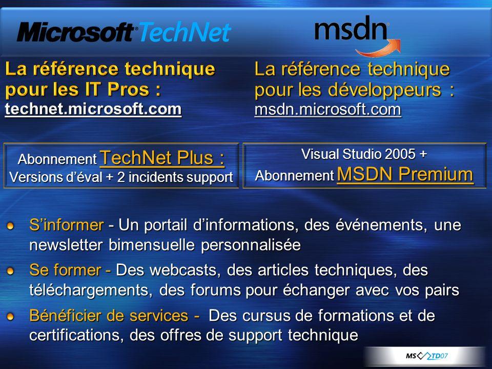 Documentation, SDK et Tutoriels (Sidebar et Live.com) http://microsoftgadgets.com/Build http://msdn2.microsoft.com/en-gb/library/aa965850.aspxhttp://msdn2.microsoft.com/en-gb/library/aa965850.aspx (Sidebar) http://microsoftgadgets.com/livesdk/docs/apiref.htmhttp://microsoftgadgets.com/livesdk/docs/apiref.htm (Live.com) Gallerie de Gadgets prêts à lemploi (+ RSS) http://gallery.live.com/ Blog de léquipe Sidebar (Gadget Corner) http://blogs.msdn.com/sidebar Centre de développement Live.com (US) http://dev.live.com Centre de développement Live.com (FR) http://www.microsoft.com/france/msdn/live/default.mspx Forum dédié au développement des Gadgets Sidebar http://forums.microsoft.com/MSDN/ShowForum.aspx?ForumID=1063&SiteID=1 Forum dédié au développement des Gadgets Live.com http://forums.microsoft.com/MSDN/ShowForum.aspx?ForumID=1062&SiteID=1
