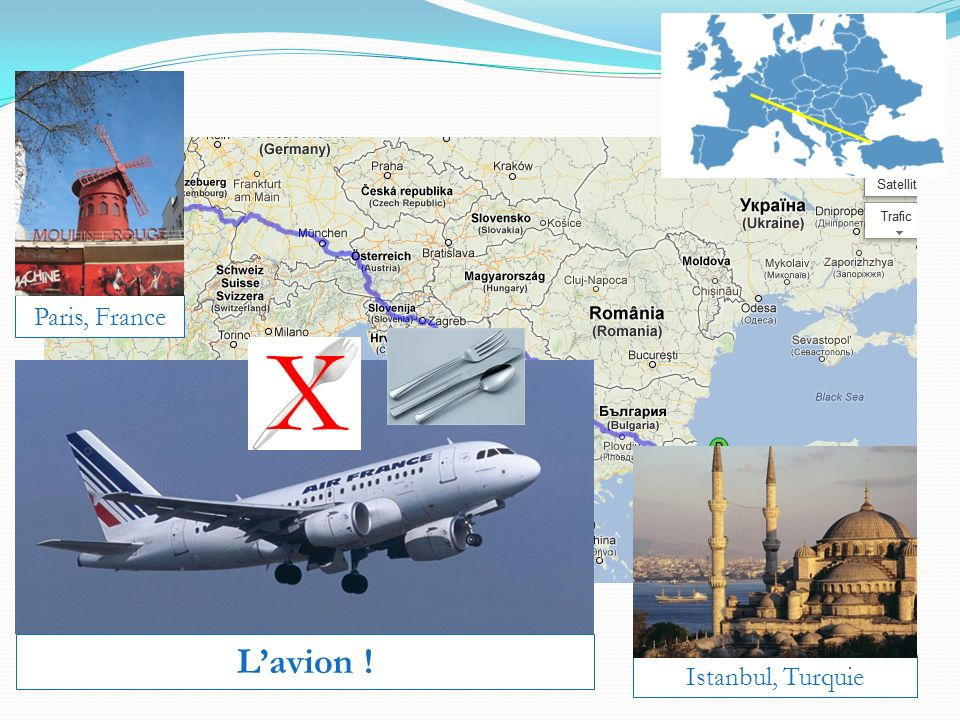 Paris, France Istanbul, Turquie Lavion ! X