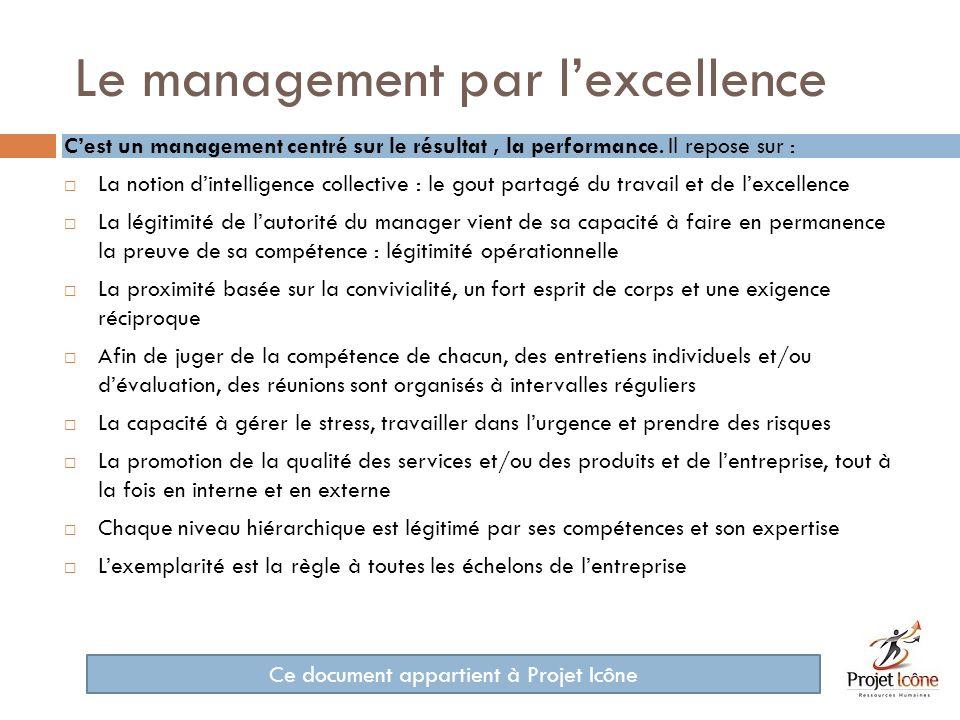 Le management par lexpertise Cest un management centré sur les compétences et leur partage.