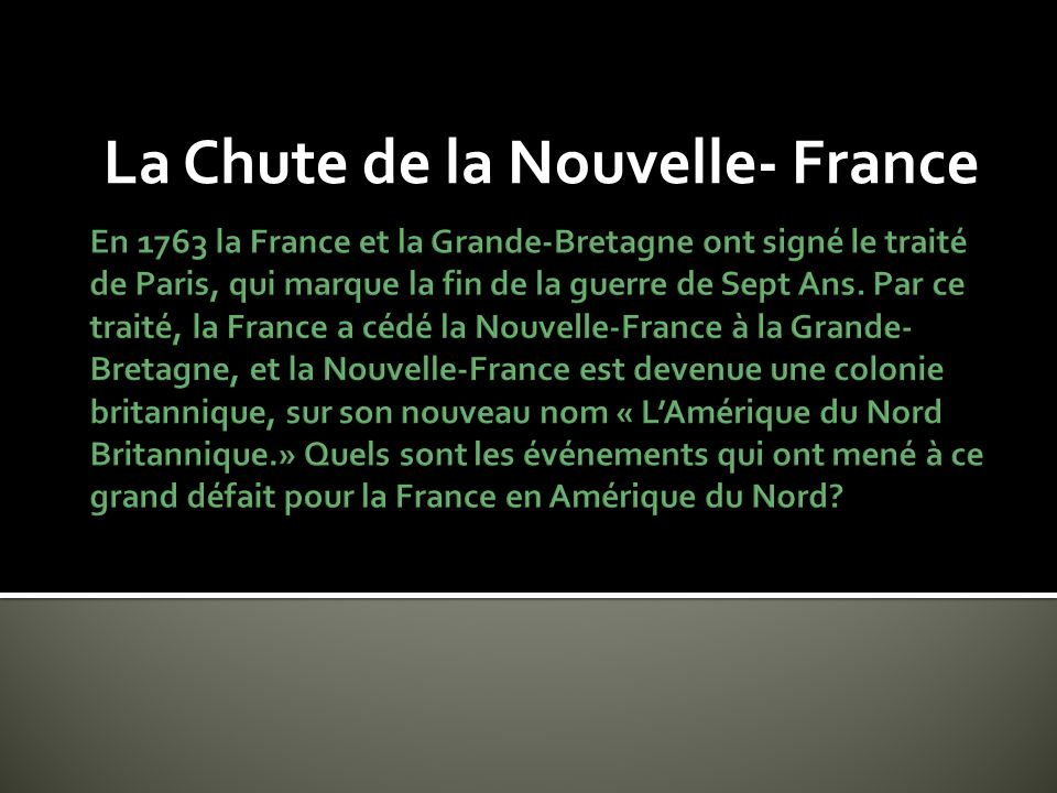 La grande paix de Montréal de 1701 En 1701, à Montréal les peuples autochtones et les Français ont signé un traité de paix où ils ont promis dessayer de coopérer.