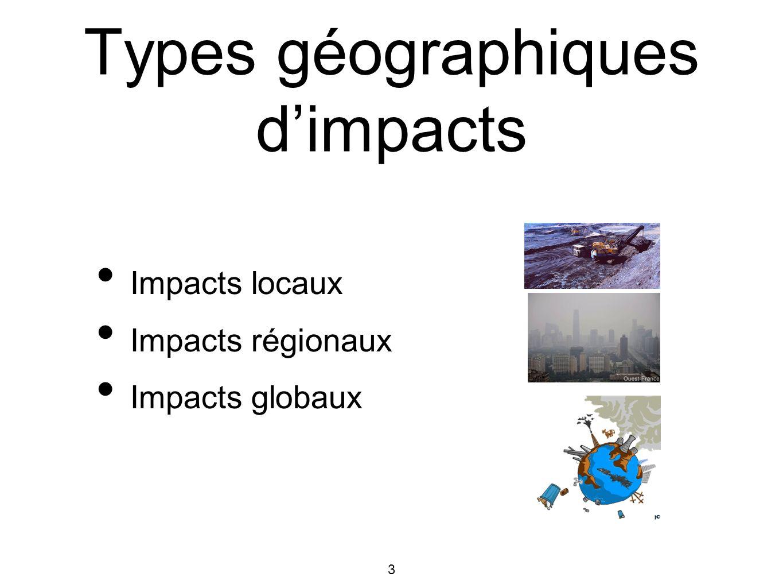 4 Types géographiques dimpacts