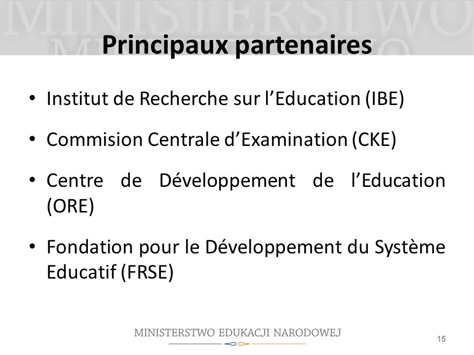 Plus de 20 projets de recherche pour assurer une gouvernance éducative basée sur les données et axée sur les résultats 16 Psychological and pedagogical tools for teachers and specialists in pre-primary education School readiness assessment tool - the computer assessment for 6 year-olds Longitudinal studies of school effectiveness – exploration of psychological, social and pedagogical factors affecting the students achievement in primary schools Foreign Language learning – longitudinal assessment of foreign language skills of students in primary and lower-secondary schools Equating study of the national examination results of 2002-2015.