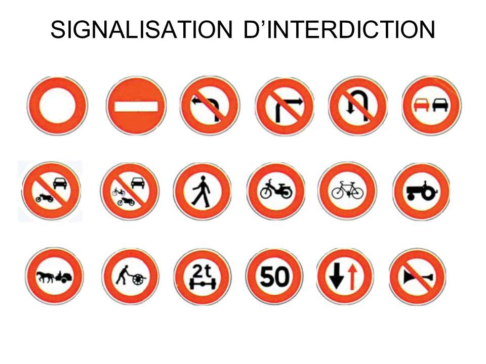 SIGNALISATION DE FIN DINTERDICTION