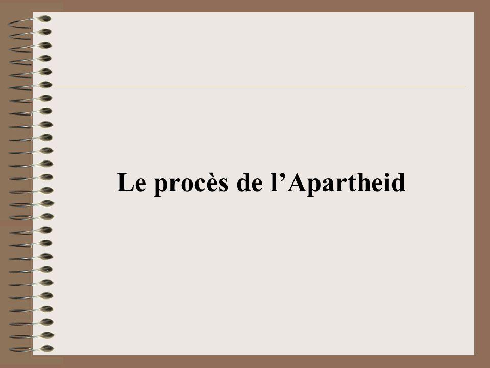 Après la fin de lApartheid en 1994, le nouveau gouvernement de Mandela na jamais questionné la dette issue du régime odieux de lApartheid.