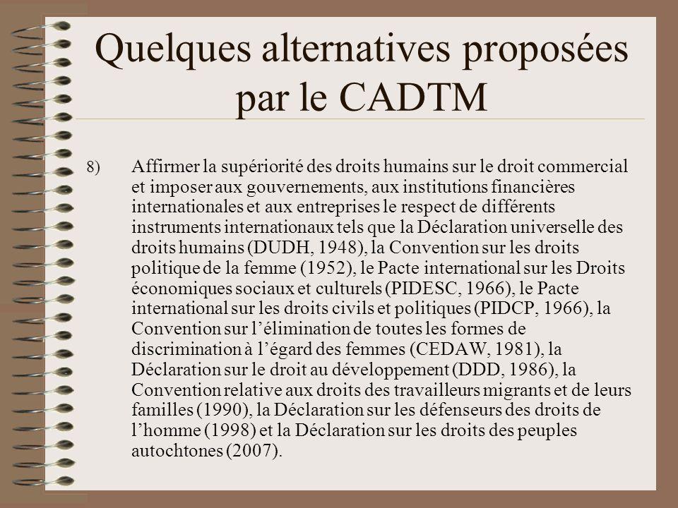 Quelques références www.cadtm.org www.cetim.ch Éric Toussaint et Damien Millet, 60 questions/60 réponses sur la dette, le FMI et la Banque mondiale (2008) William Bourdon, « Face aux crimes du marché – Quelles armes juridiques pour les citoyens.