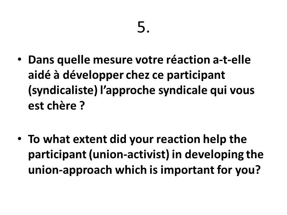 6. Comment auriez-vous pu réagir différemment ? How could you have react in a different way?