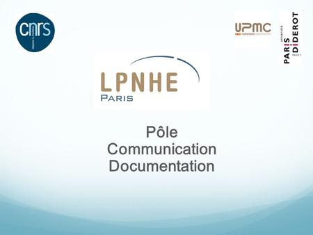 Pôle Communication Documentation