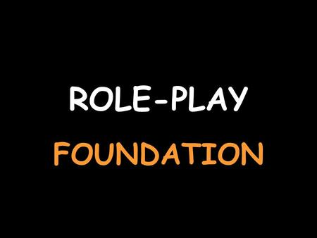ROLE-PLAY FOUNDATION. You are talking about your house (you start) For help with the vocab, click herehere Say that you have your own room J'ai ma propre.