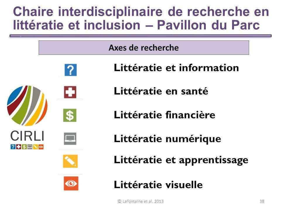 39 Présentation des travaux de CIRLI Littératie et information : – Guide de rédaction pour une information accessible.