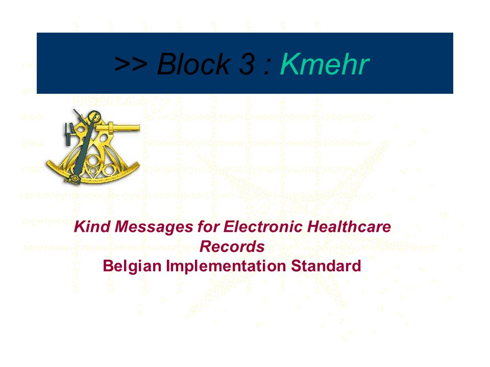 Summarized Electronic Health Record > Kmehr transaction > Multipurpose content > Homologation criteria > European target >> Block 4 : Sumehr