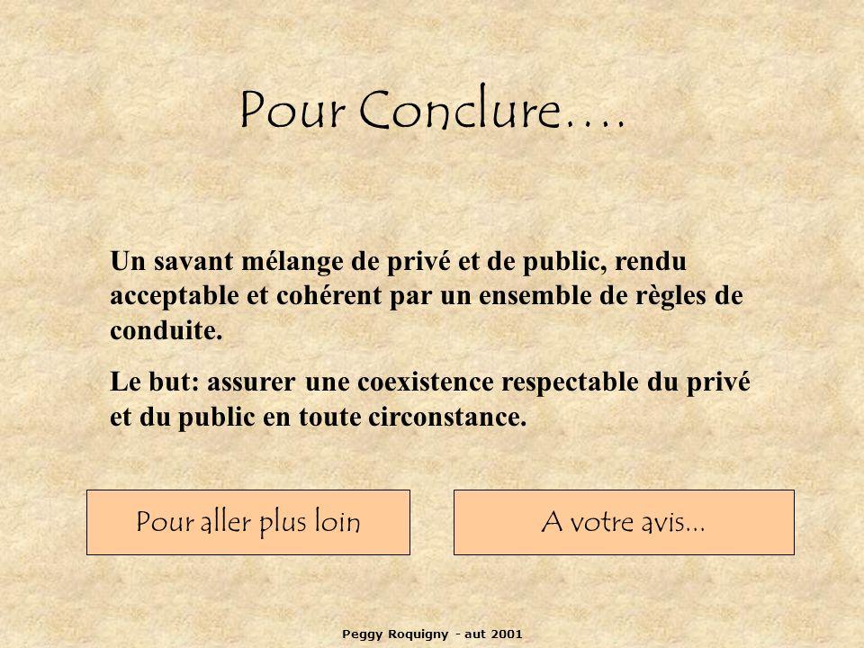 Peggy Roquigny - aut 2001 Pour Conclure….